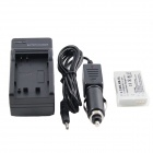 Battery AC / Car Charger Set for Canon Digital IXUS Series / IXUS 800 IS + More