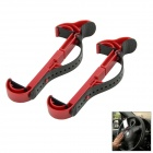 Adjustable Car Steering Wheel Mounted ABS Holder for IPHONE / Samsung / GPS - Black + Red (2 PCS)