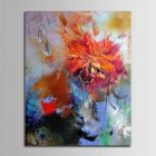 Iarts DX0613-08 Flower Abstract Lotus Hand Painted Oil Painting - Multicolored