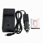 Travel EUA Plugsss Car / AC Câmera Digital Battery Charger Set para Kodak / Sony NP-BN1 - Preto + Branco