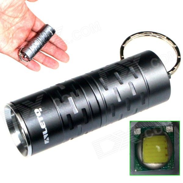 ALETO KL044H 1-LED 700lm 3-Mode White Light Flashlight w/ Keychain - Grey (1 x 16340)