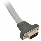 FC10 Female to DB 9 Female Serial Flat Cable - Greyish White + Black