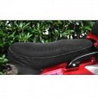 Women's Polyurethane Motorcycle Saddle Seat Cover - Black (53 x 34cm)