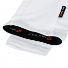 NUCKILY E274 Sports Bike Bicicleta Ciclismo Nylon + Spandex Long Arm Sleeves - Blanco (XXL)
