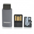 KINGMAX TF Memory Card + OTG + USB Flash Drive - Black + Grey (16GB / Class 10)