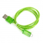 Shimmering Powder Style USB to Micro USB Data/Charging Cable for Samsung - Green (100cm)