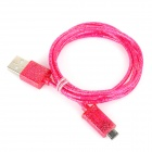 Shimmering Powder Style USB to Micro USB Data/Charging Cable for Samsung - Deep Pink (99cm)
