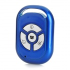 TY-001 Wireless Bluetooth V3.0 Selfie Camera Remote Shutter for IPHONE + More - Sapphire Blue