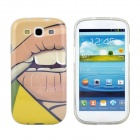 Hot Smoking Girl Pattern Protective TPU Case for Samsung Galaxy S3 i9300