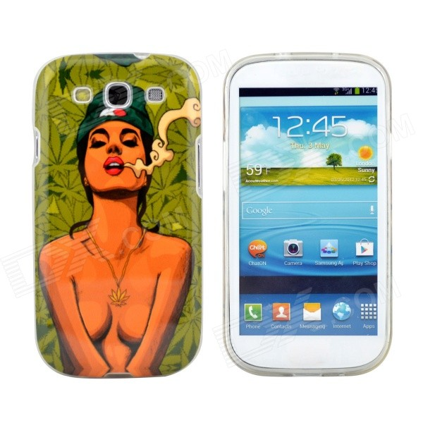 Hot Smoking Bikini Girl Pattern Protective TPU Case for Samsung Galaxy S3 i9300 - DXTPU Cases<br>Perfectly fits the contours of the Samsung Galaxy S3 Protects your S3 from scratches bumps and dust Direct external access to all buttons controls and ports Sexy girl print to make your S3 look more attractive Open-face design for ease of operation Skinning finished comfortable to the touch<br>