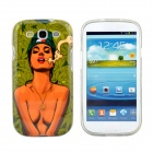 Hot Smoking Bikini Girl Pattern Protective TPU Case for Samsung Galaxy S3 i9300