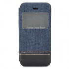 Jeans Pocket Style Stylish Protective Flip Open PU Leather Case w/ Display Window for IPHONE 5 / 5S