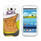 Hot Muscle Man Pattern Protective TPU Case for Samsung Galaxy S3 i9300 - White + Brown