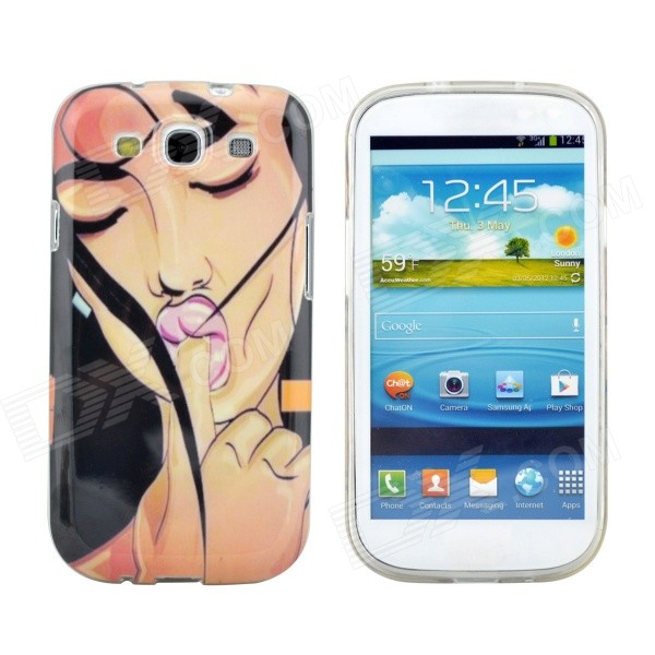 Hot Sexy Girl Pattern Protective TPU Case for Samsung Galaxy S3 i9300 protective tpu case for samsung galaxy s3 i9300 green