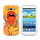 Hot Sexy Lips Girl Pattern Protective TPU Case for Samsung Galaxy S3 i9300 - Red + Yellow