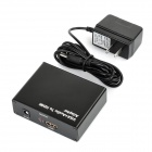 VGA + R/L to HDMI 1080p Converter - Black