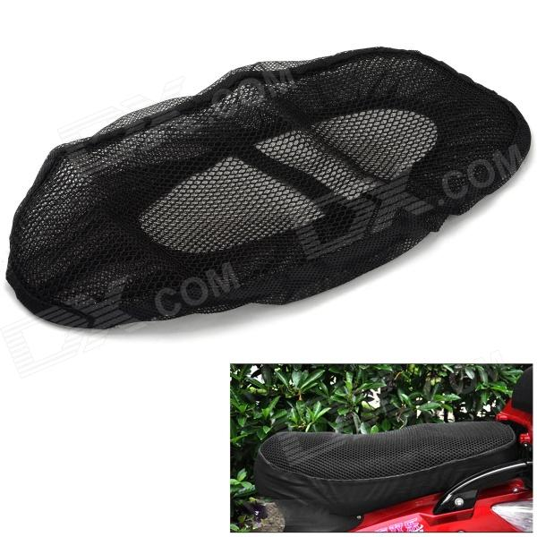 Polyurethane Motorcycle Saddle Seat Cover - Black (52 x 30cm)