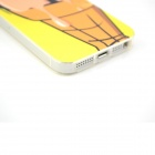 Sexy Girl Protective Plastic Hard Back Case for IPHONE 5 / 5S - Yellow + Beige