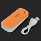 "TQZ-284 5V ""5600mAh"" Li-ion batteri strøm Bank med LED lommelykt - Orange + hvit"