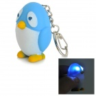Penguin Style 2-LED White Light Sounding Keychain Toy for Kids - White + Blue + Yellow (3 x AG10)