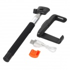 Z07-5 Wireless Bluetooth Mobile Phone Selfie Monopod for IPHONE 4 / 4S / 5 / 5S - Black + Silver