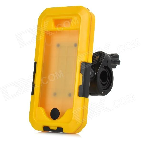 Фото Bike Bicycle Mount Holder w/ Water / Shock Proof Protective Case for IPHONE 5 / 5S - Black + Yellow