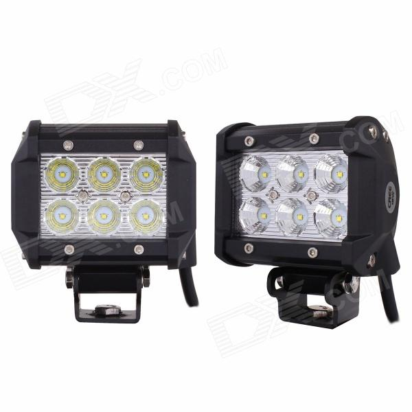 MZ 18W 1440LM LED 60 Flood Work Light Bar Off-road Car Driving Lamp SUV 4WD Boat ATV (2 PCS) 10w led work light 2 inch 12v 24v car auto suv atv 4wd awd 4x4 off road led driving lamp motorcycle truck headlight