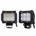 MZ 18W 1440LM CREE 60 Flood Work Light Bar Off-road Car Driving Lamp SUV 4WD Boat ATV (2 PCS)