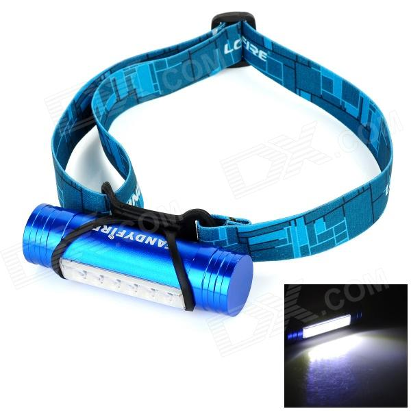 FANDYFIRE L811 3W 100lm 6-LED 3-Mode Cool White Light Headlamp - Blue + White (3.6~5V)