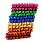 DIY Mini NdFeB Magnetic Balls Educational Toy - Golden + Red + Multi-Colored (216 PCS)