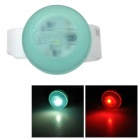 DOSUN RDE80 2-LED 13LM 5-Mode Warm White / Red Bicycle Headlight Warning Light - Green (2 x CR2032)