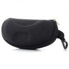 Universal Portable Nylon + Plastic Case for Glasses - Black