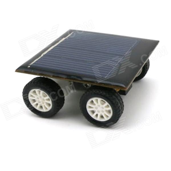 Solar Powered DIY Assembling Toy Car Set - Black + Silver + Multicolored
