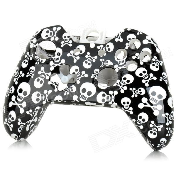 SW-0012 Skull Pattern Replacement ABS Wireless Controller Shell Case for XBOX ONE - White + Black ufo shaped dual charging dock stand w led for xbox one wireless controller black