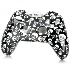 SW-0012 Skull Pattern Replacement ABS Wireless Controller Shell Case for XBOX ONE - White + Black