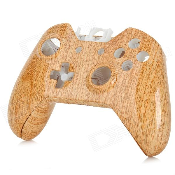 SW-0010 Replacement ABS Wireless Controller Shell Case for XBOX ONE - Wood + Black