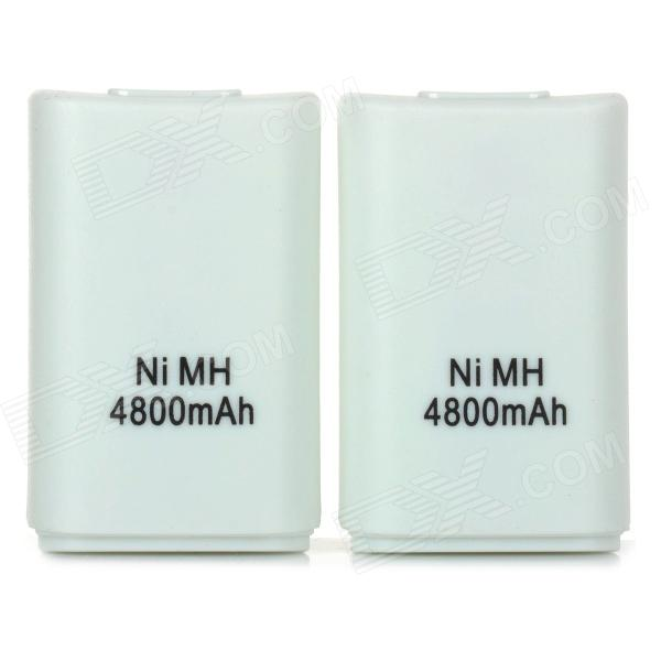 MouseKing SW-0014 Rechargeable 2.7V 1800mAh Ni-MH Batteries for XBOX 360 Wireless Controller - White
