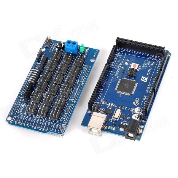 DIY Funduino 2560 R3+MEGA Sensor Shield V1.0 for Arduino