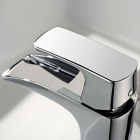 YDL-F-0571 Fashionable Single Handle Chrome-plated Brass Waterfall Tap Faucet - Silver