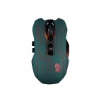 JIANSHENGYIZU Classic 9-Key 2.4GHz Wireless Optical Gaming Mouse w/ Colorful LED Light - Army Green