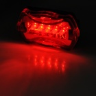 WJ-101 Bicycle 5-LED White Headlight Flashlight + 5-LED Red Tail Light Set - Black + Red (2 x AAA)