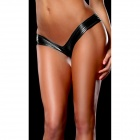 Womens Hot Sexy Metallic Spandex Panty Thong Lingerrie Underwear - Black