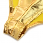 Womens Hot Sexy Metallic Spandex Panty Thong Lingerrie Underwear - Golden