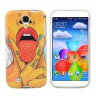 Hot Sexy Lips Girl Pattern Protective TPU Case for Samsung Galaxy S4 i9500 - Red + Yellow