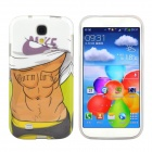 Hot Muscle Man Pattern Protective TPU Case for Samsung Galaxy S4 i9500 - White + Brown