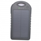 ODEM 5000mAh Dustproof Shockproof Waterproof Li-polymer Battery Solar Charger External Bank - Black