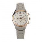 Daybird 6373 Men's Stainless Steel Band Quartz Analog Wristwatch - Silver + Rose Golden (1 x LR626)