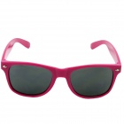 OUMILY Universal PC Lens Sunglasses - Deep Pink + Grey