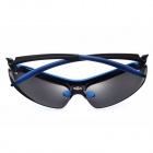 Outdoor Sports Cycling Resin Lens UV400 Protection Polarized Sunglasses for Men - Black + Blue