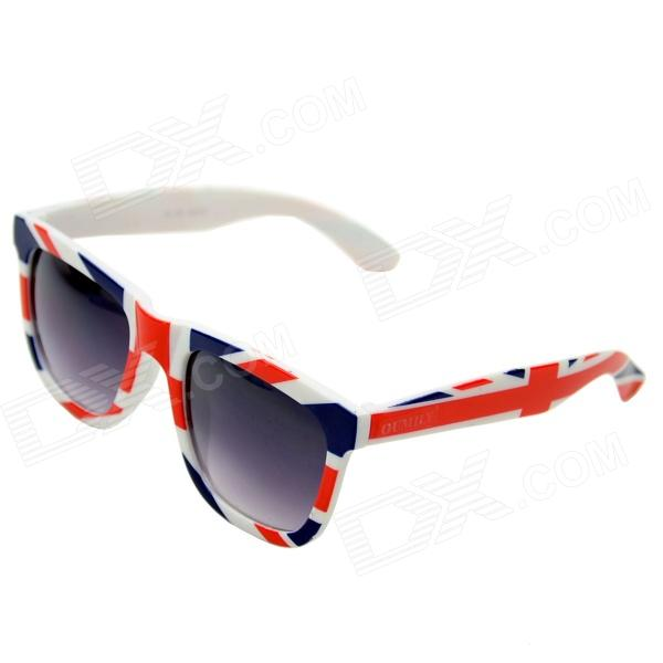 OUMILY U.S Flag Pattern PC Lens UV400 Protection Sunglasses - Multi-Colored + Grey